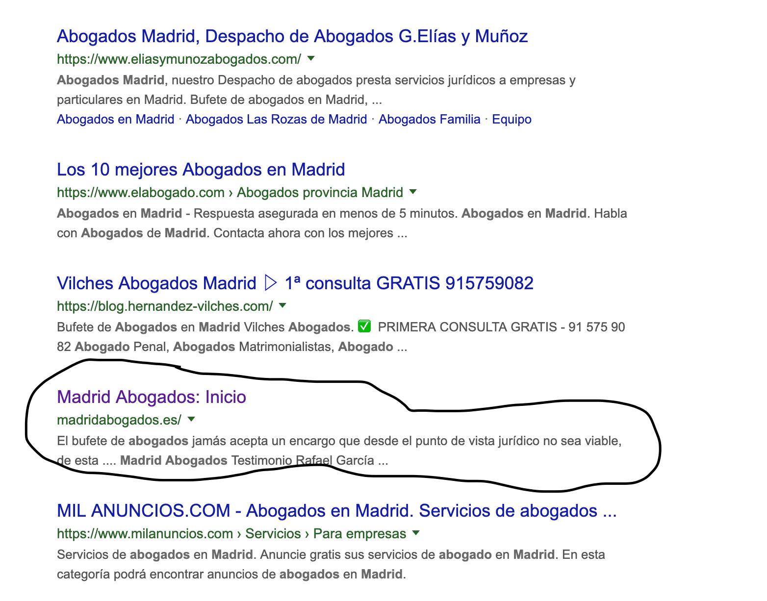 nicho abogados madrid