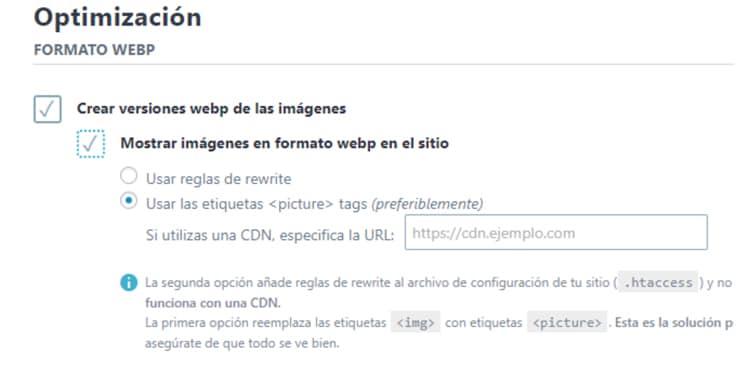 como poner imagenes webp en wordpress