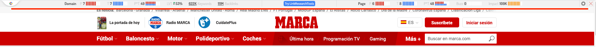 marca link research seo tool